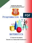 Programación Curricular Anual - 2º - Matemática