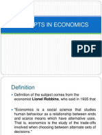 Concepts in Economics