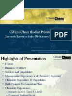 CiVentiChem India Presentation - 2012.ppt