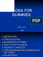 Blogs for Dummies 2008