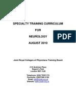 2010 Neurology Curriculum FINAL