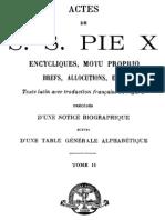 Actes de S. Pie X - t. II
