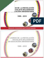 Folleto Logros de La Revolucion Socialista Bolivariana en Educacion Universitaria