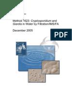 EPA 1623-Giardia, Cryptosporidium