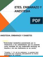 Anestesia, Embarazo y Diabetes