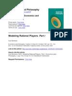 Binmore Modeling Rational Players I