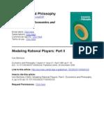 Binmore Modeling Rational Players II