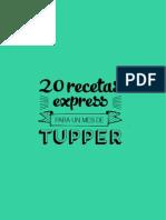20 Recetas Express Para Un Mes de Tupper