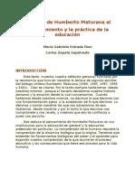 35055367 El Aporte de Humberto Maturana a La Educacion