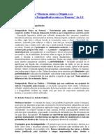 """A Origem e os Fundamentos das Desigualdades entre os Homens"""" de J.J Rousseau.J Rousseau"""