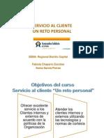 Información del curso servicio al cliente un reto personal