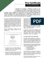 Iscada Paper Fire Certificate