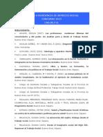 2013 Bibliografia Servicio Social