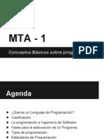 Fundamentos de Programación MTA 1