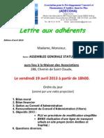 lettre aux adherents édition avril 2013 2