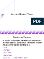Advanced Pointer Topics