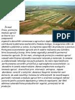 Conservarea şi protecţia ecosistemului agricol