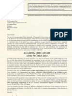 Letter from IBC Cambridge