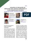 La acción preventiva y la intervención con adolescentes sobre relaciones problemáticas en la red