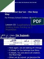 Quran CCE-10b-Ruku and Sujood