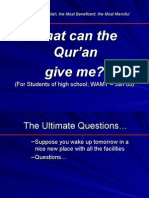 What Can Quran Give Me