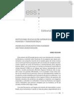 INSTITUCIONES DE EDUCACIÓN SUPERIOR EN fronteras