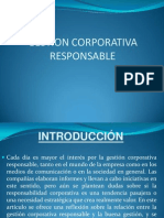 Gestion Corporativa Responsable o Buena Gestion
