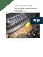 Procedimentos para substituição ou limpeza filtro de pólen