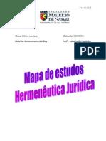 Mapa de estudos de Hermenêutica Jurídica (Hérica santana)