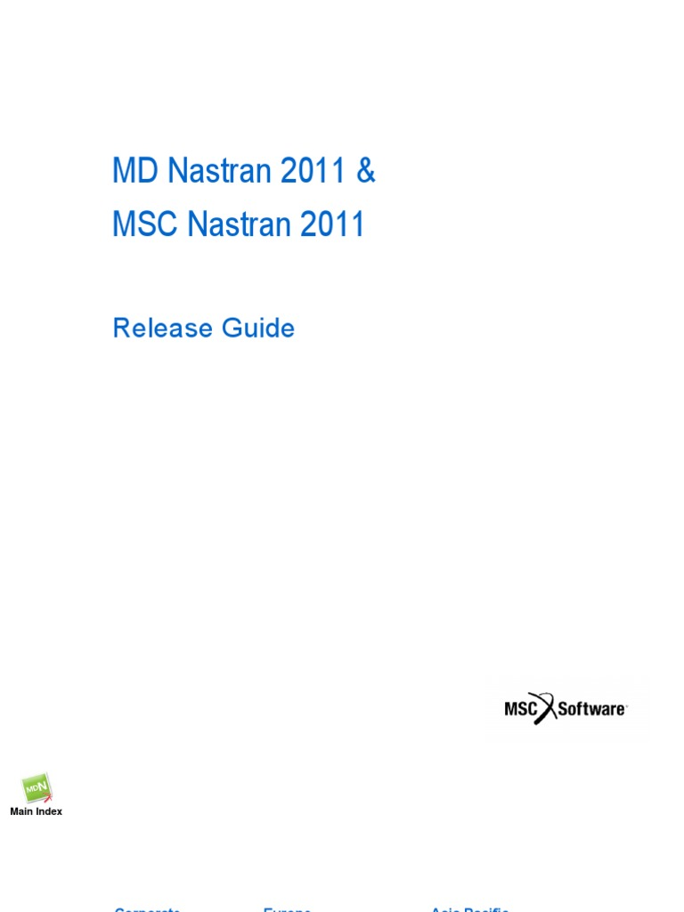 MD Nastran 2011 & MSC Nastran 2011 Release Guide | Mathematical  Optimization | Application Programming Interface