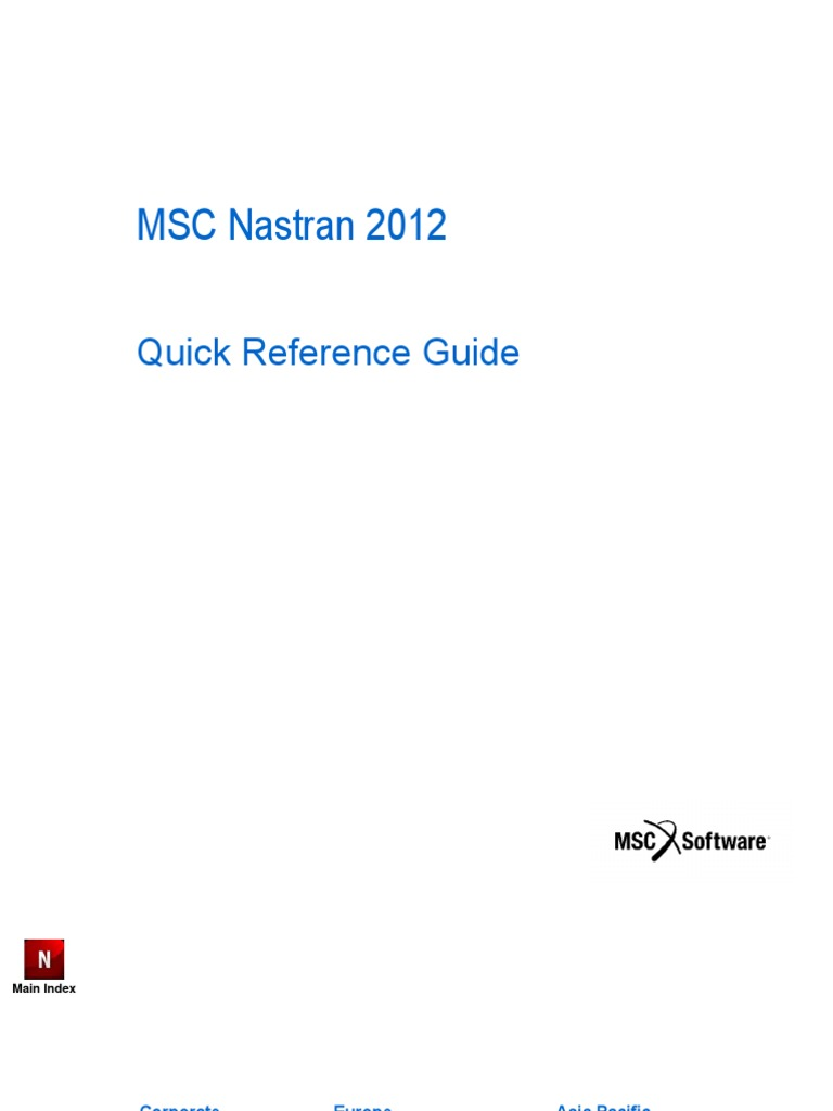Component K2 Itemlist User 212 Cocomacia?start=40 >> Msc Nastran Quick Reference Guide Msc Nastran 2012 Quick Reference Guide