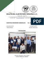 Boletín Rotario del 2 de abril de 2013