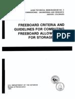 1981 USBR Freeboard Criteria