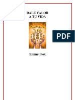 Emmet Fox Dale Valor a Tu Vida