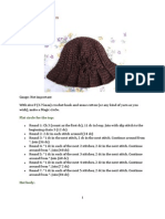 Free Crochet Pattern Ridge Hat With Brim