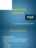 Examen Fisico Abdomen- Propedeutica