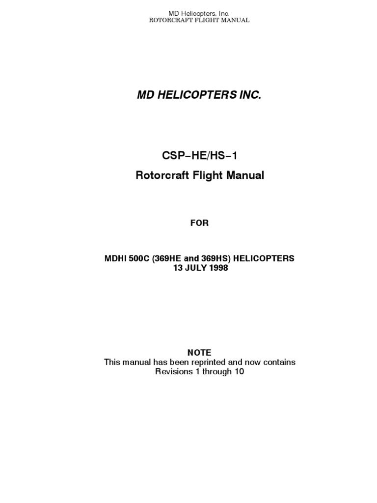 hughes 369 pilots manual helicopter rotor helicopter rh scribd com Roll Royce Manual B-17 Flight Manual