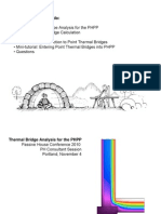 Thermal Bridge Analysis for the PHPP v5