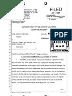 COMPLAINT JANE KINGSLEY MILLER v. CITY OF CARMEL-BY-THE-SEA (M99513) 2009.pdf