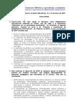 II Seminario ALFIN Vilanova09 Conclusiones