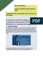 Componentes de Una Interfaz Web
