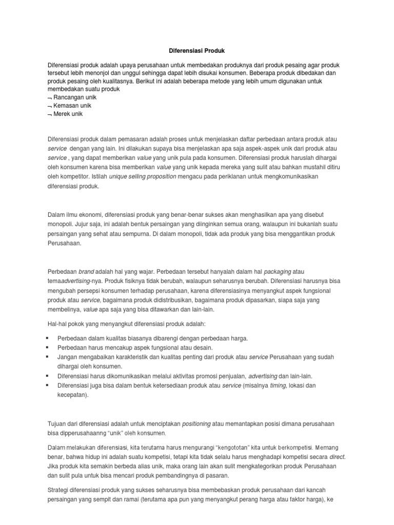 Diferensiasi Produk: Pengertian, Strategi & Dampak Bagi Bisnis - CPSSoft
