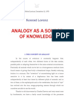 Konrad Lorenz the Analogy as a Source of Knowledge