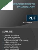 Introduction to Psychology - Karol