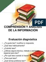 comprensión y análisis de la información