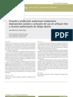 Creación y producción audiovisual colaborativa. Implicaciones sociales y culturales del uso de software libre  y recursos audiovisuales de código abierto