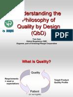Understanding the Philosophy of QbD