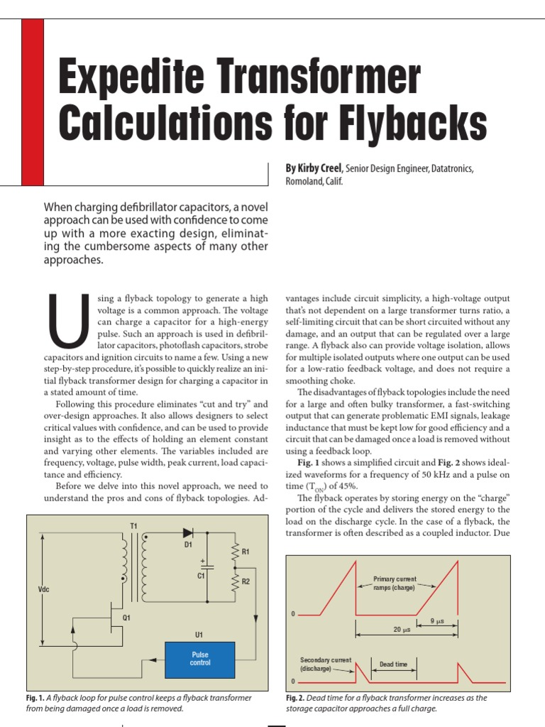 FlyBack Transformer Calculations | Capacitor | Power Electronics