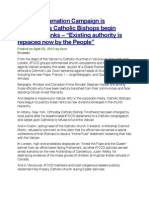 """Global Reclamation Campaign is Launched as Catholic Bishops begin Breaking Ranks – """"Existing authority is replaced now by the People"""""""