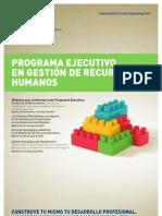 Programa ejecutivo de gestión en RR.HH